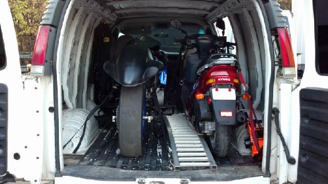 Chevy Cargo Van Motorcycle Hauler Setup Ready Togo