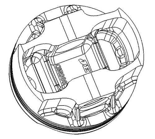 Hayabusa Turbo Pistons je Pistons Fsr Turbo Forging